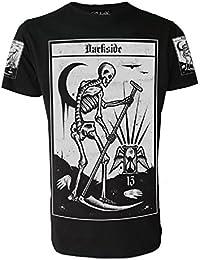 """Darkside Clothing Herren T-Shirt, mit Gothic-Motiv, Tarotkarte """"Der Tod"""""""