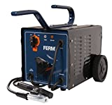 FERM WEM1035 Arc Welder – Welding Machine – 55-160 Ampere – 2-4 mm – Thermal Cut-Out – With Scaling Hammer, Steel Wire Brush and Welding Mask