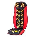SJZC Elektrisches Massagekissen GanzköRper Multifunktion Auto Heim Massagegerät,red