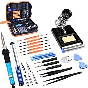 MAIKEHIGH 60W 220V Kit de hierro de soldador eléctrico, temperatura ajustable,