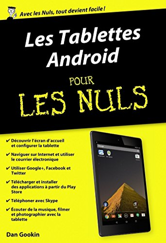 Les Tablettes Android pour les Nuls (POCHE NULS) (French Edition ...