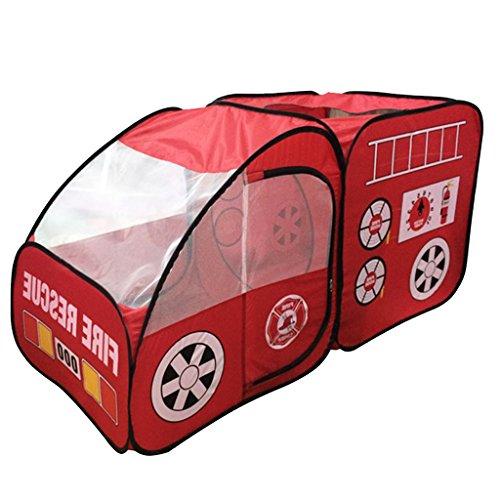 Preisvergleich Produktbild Gazechimp Kinder Feuer-LKW-Auto Spielzelt Kingdom Pop Up Spielzelt Haus Spielzeug Rot
