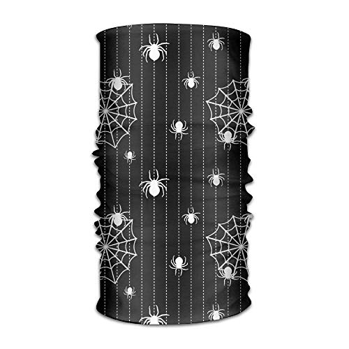 FAFANIQ Spider Cobweb Unisex Breathable Headband Bandanas Headwear Balaclava Neck Gaiter Magic Scarf UV Protection for Daily Activities