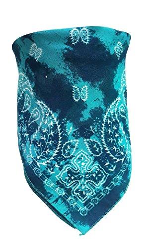 Preisvergleich Produktbild Biker Bandana Türkises Batik Paisley