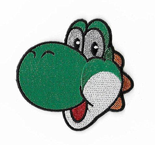 Yoshi Patch Dinosaurier bestickt Eisen/Nähen auf Badge Aufnäher Kostüm Cosplay Mario Kart/SNES/Mario World/Super Mario Brothers/Mario Allstars Souvenir