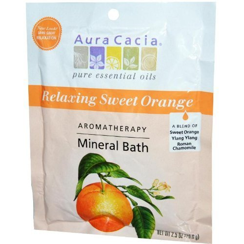 Aura Cacia Aromatherapy Mineral Bath, Relaxation, 2.5-Ounces (Pack of 2) by Aura Cacia