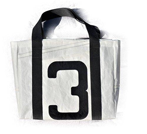 PERTH Shopper Tasche aus Segel ★ Schultertasche ★ Handtasche ★ Einkaufstasche ★ Tote Bag ★ Upcycling von Original Segeln ★ Roo's Recycled Sails ★ Segeltasche (Roo Tasche)