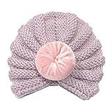 Sunenjoy Chapeau Bandeau Turban Noeud Mou Tête Wraps pour Bébé Filles Bonnet Nouveau-Né Tout-Petits Mode (Taille Unique, Violet 2)