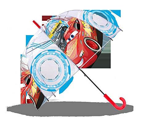 Cars Paraguas Transparente 48cm Campana Manual Paraguas