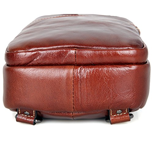 Genda 2Archer Borsa in Pelle Petto, Spalla / Sacchetto Cross-corpo Marron