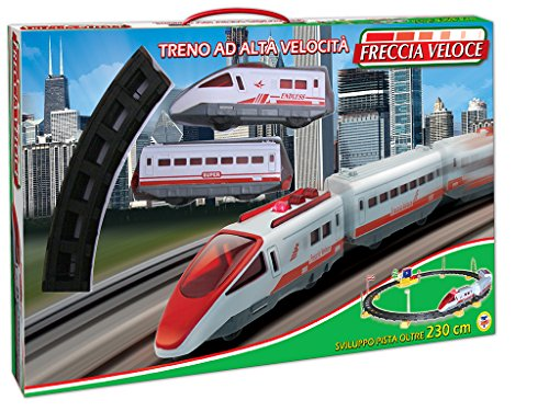 TEOREMA Théorème 61660Train électrique flèche Rapide avec Piste 230cm Blanc/Rouge