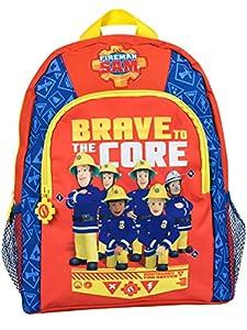 Mochila para niños de Sam El Bombero. El héroe de la ciudad estará preparado para afrontar el día con esta fantástica mochila de Sam El Bombero y su equipo, como Penny y la Station Officer Steele en un fondo de color rojo intenso rodeado por señales ...