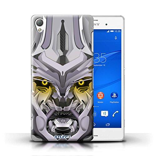Kobalt® Imprimé Etui / Coque pour Sony Xperia Z3 / Opta-Bot Bleu conception / Série Robots Mega-Bot Jaune