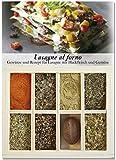 Lasagne al forno – 8 Gewürze Set für die traditionelle Lasagne (51g) – in einem schönen Holzkästchen – mit Rezept und Einkaufsliste – Geschenkidee für Feinschmecker von Feuer & Glas