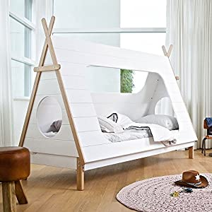 Woood kids teepee cabin bed