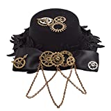 Search : BLESSUME Steampunk Small Top Hat Hair Clip