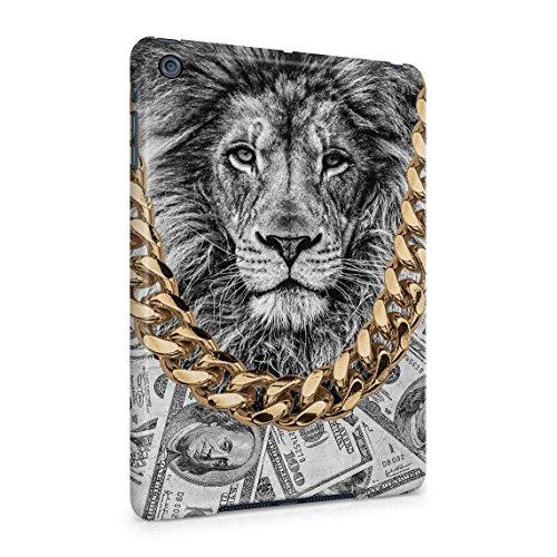 Gold Chains Lion King Cash Billionaire Luxury High Life Swag Dope Trill Dünne Rückschale aus Hartplastik für iPad Mini 1 Tablet Hülle Schutzhülle Slim Fit Case cover (Gold Wild Cheetah)