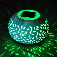 Kingfisher Lampe décorative en céramique à énergie Solaire