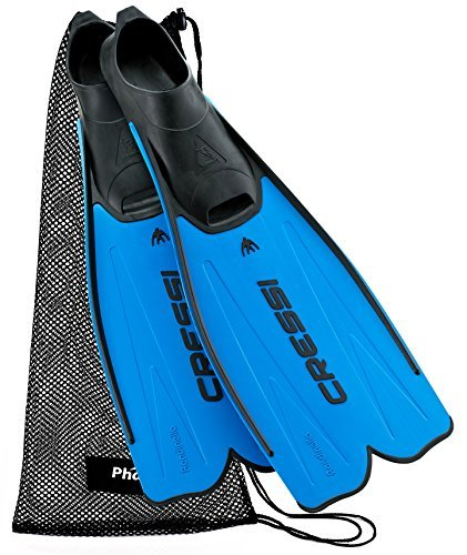 Cressi Rondinella Full Foot Fin with Mesh Bag, 37/38