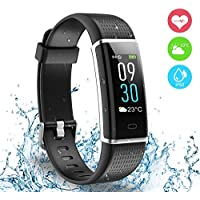 AUSUN Fitness Tracker, 130C Color Screen Activity Tracker with IP68 Waterproof, 14 Sports Modes, GPS tracker, Intelligent Notification, Pedometer Watch for Kids Men Women