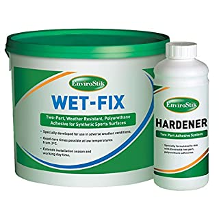 Artificial Grass Glue Adhesive Wet Fix & Hardener All Conditions (5kg Tub & 0.5kg Hardener)