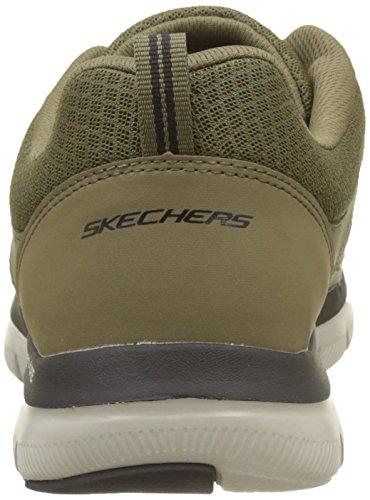 Skechers Herren Flex Advantage 2.0-Lindman Sneaker Grün (Olive/black)