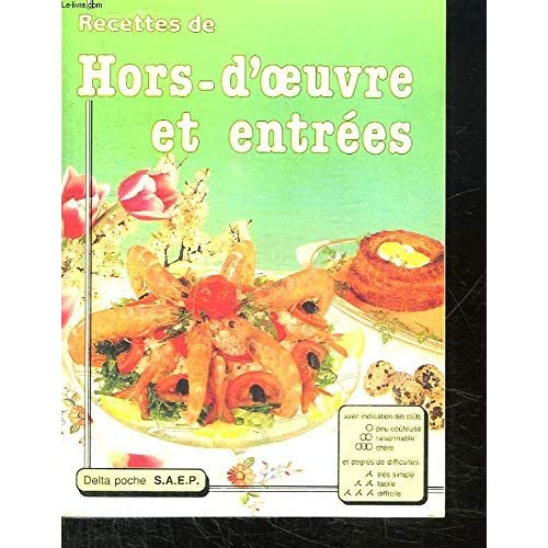 hors d'oeuvre et entrees