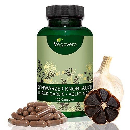Vegavero Ajo Negro 3500 mg | Vegano | Sin Estearato de Magnesio | Hipertensión + Colesterol + Antioxidante | 120 Cápsulas | Testado en Laboratorio | Instrucciones en Español