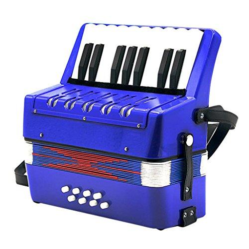 MagiDeal 17 Noten 8 Bässe Tasten Kinder Akkordeon Ziehharmonika Musikinstrument ab 3 Jahre