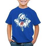 style3 Stay Puft Marshmallow Mann T-Shirt für Kinder geisterjäger schaumzucker, Farbe:Blau, Größe:116