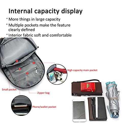 FANDARE Sling Bag Rucksack Umhängetasche Brusttasche Messenger Bag Hiking Bag Crossbody Bag Daypack Schultertasche Polyester Schwarz Schwarz