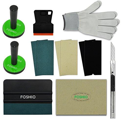 Preisvergleich Produktbild FOSHIO Profi Folierung Werkzeuge Set mit Rakel Schaber Magnete Filz Messer Handschuhe für Autofolierung, Car Wrapping
