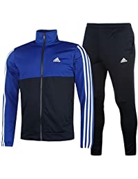 0fcec497ebe adidas Mens 2 Pieces Jacket Bottoms 3S Basic Poly Tracksuit
