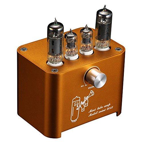 Nobsound APPJ Mini Valve Tube Amplifier Stereo HiFi Desktop Power Amp 3W+3W Röhrenverstärker (Orange)