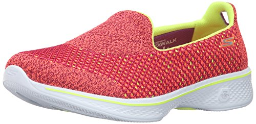 Skechers Go Walk 4 - Kindle, Women Low-Top Sneakers, Multicolored (Pink/Lime Pklm),...