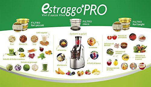 Estraggo PRO (Bianco) - Estrattore di Succo Vivo