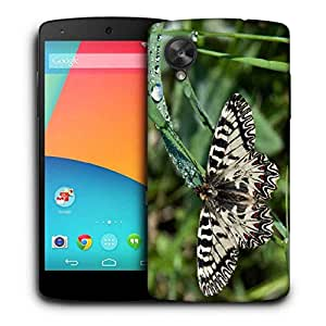 Snoogg Mixed Color Butterfly Printed Protective Phone Back Case Cover for LG Google Nexus 5