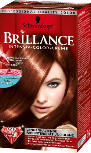 schwarzkopf brillance intensiv color creme hot red caramel 892 rot - Coloration Ton Sur Ton Dfinition