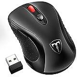 Xintop Mouse Wireless da Gioco con Ricevente Nano, 6 pulsanti, 5 DPI Regolabile (800, 1200, 1600, 2000, 2400) Risparmio Energetico