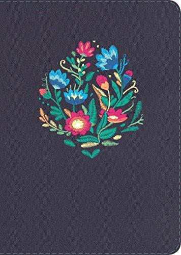 Rvr 1960 Biblia Compacta Letra Grande Bordado Sobre Tela Con Índice (Rvr Biblia 1960)