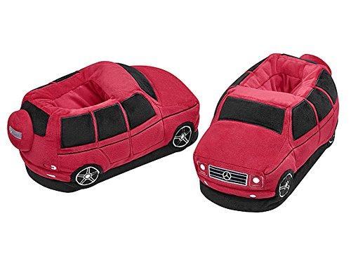 Preisvergleich Produktbild Unbekannt Mercedes-Benz,  Plüsch-Hausschuhe G-Klasse Rot / Schwarz,  28-33,  100% Polyester (34-39)
