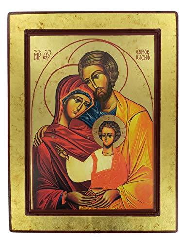 Ferrari & Arrighetti Icono Sagrada Familia de Madera (Icono Griego) - 33 x 25 cm