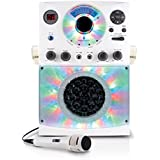 Singing Machine SML385BTW Top Loading CDG Karaoke System With Bluetooth, Sound And Disco Light Show (White)