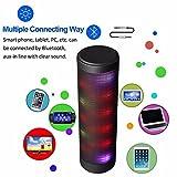 Altoparlanti Stereo Mobile Bluetooth, LUOOV Mini Bluetooth 4.0 Altoparlanti LED Toccare chiave portatile Boombox Altoparlanti Stereo Bluetooth Wireless Altoparlanti Luci Pulsante LED di Musica Sinfoni