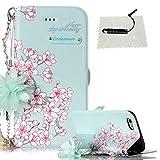 TOCASO Glitter Design Pink Weich PU Ledertasche Schutzhülle für iPhone 6 / 6S 4.7