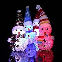 ILOVEDIY 1Stück LED Beleuchtung Schneemann Dekofigur Weihnachtsdeko Innen Außen