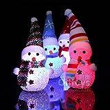 ILOVEDIY 2Stück LED Beleuchtung Schneemann Dekofigur Weihnachtsdeko Innen Außen