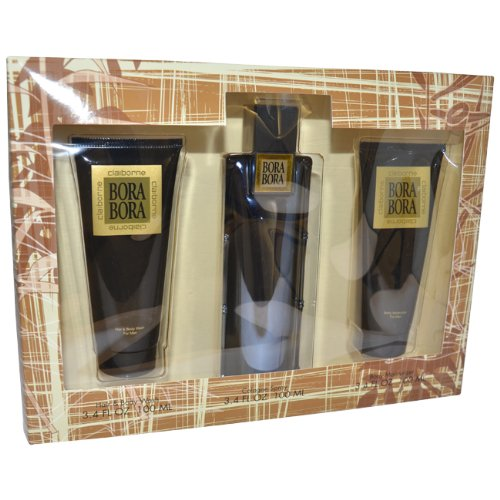 Bora Bora pour Les Homme Coffret - 100 ml Cologne Vaporisateur + 100 ml Body Lotion + 100 ml Hair & Body Gel