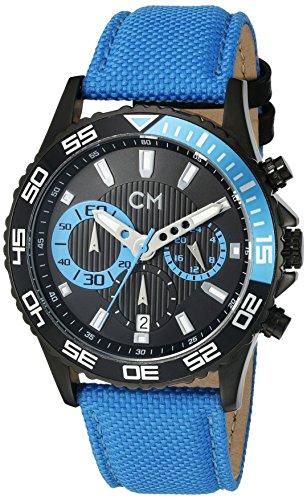 Carlo Monti - CM509-663 - Montre Homme - Quartz Chronographe - Chronomètre - Bracelet Textile Bleu