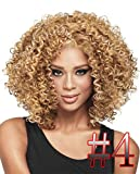 Junsi Lady Women Heat Short Sexy Black Curly Wavy Cosplay Party Full Hair Wig SW020 Nouveau style